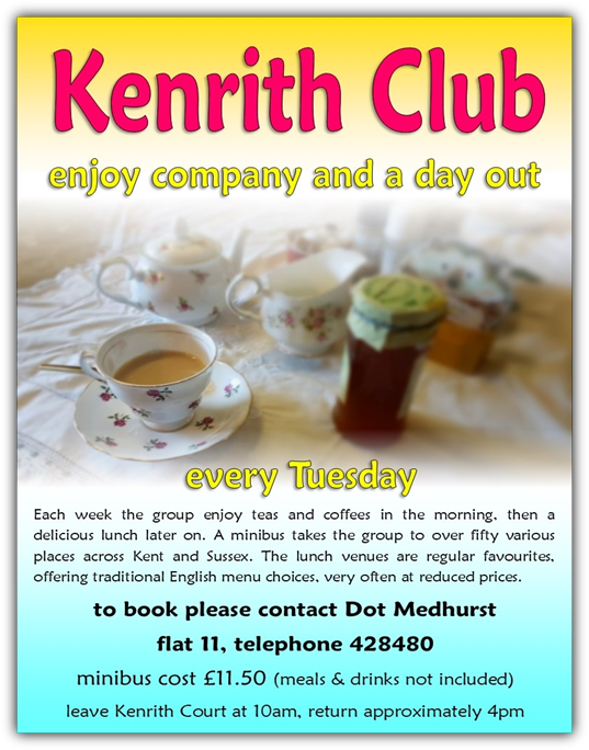 Kenrith Club Tuesday Outings